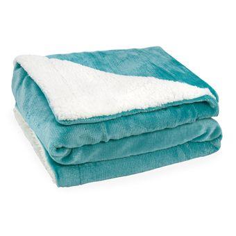 Cobertor-para-Bebe-Dupla-Face-com-Sherpa-Sultan-110-x-90cm-400-gm²---Acqua-|-Shopcama