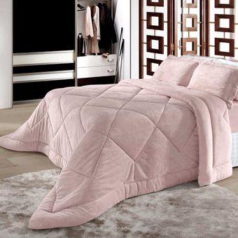 Edredom-King-Size-Plush-Alto-Relevo-BBC-Textil-Rosa-Cor-302
