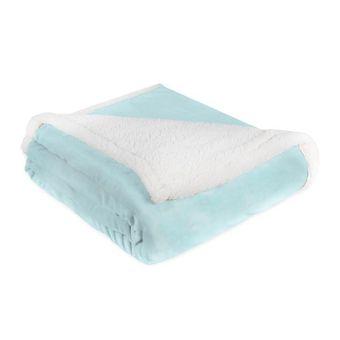 Cobertor-Casal-Dupla-Face-Flannel-e-Sherpa-Sultan-Azul-Ceu