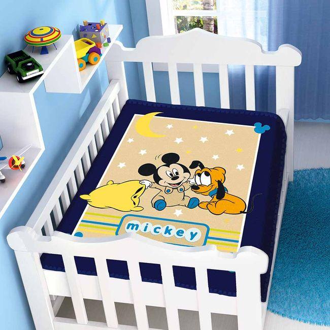 Cobertor-Bebe-Raschel-Mickey-Soninho-Disney-Azul