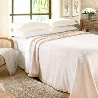 Cobertor-Casal-Jolitex-Raschel--180x220cm--620-g-m²---Marfim