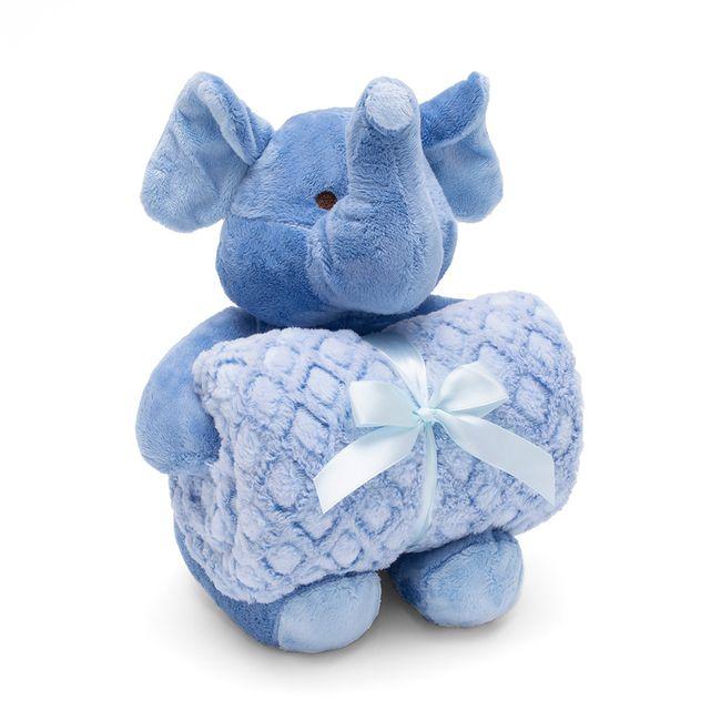 Kit-Manta-com-Bichinho-de-Pelucia-Elefante-Bouton-Baby