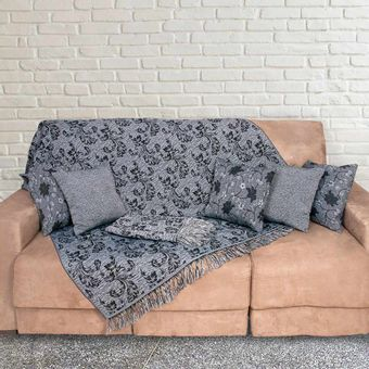 Kit-Manta-para-Sofa-3-e-2-Lugares---5-Almofadas-Azul-Marinho-Imperial---Izaltex