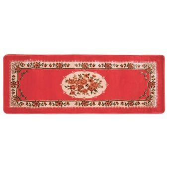 Tapete-Passadeira-Jolitex-Floral-Orient-64x180cm-Vermelho