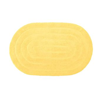 Tapete-Oval-Allegro-Amarelo-Kapazi-40x60cm