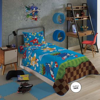 Edredom-Infantil-Sonic-Lepper-Dupla-Face