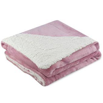 Cobertor-para-Bebe-Dupla-Face-com-Sherpa-Sultan-110-x-90cm-400-g-m²---Rosa