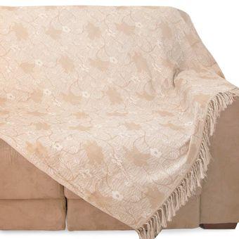 Manta-para-Sofa-2-Lugares-Izaltex-Imperial---Mel-Floral
