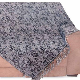 Manta-para-Sofa-2-Lugares-Izaltex-Imperial---Azul-Marinho-Floral
