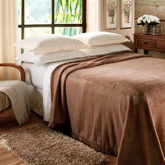 Cobertor-Casal-Jolitex-Raschel--180x220cm--620g-m²-Marrom
