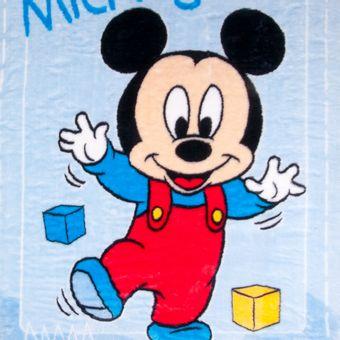 Cobertor-Bebe-Jolitex-Raschel-Mickey-Passinhos-Azul-