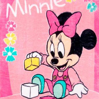 Cobertor-Bebe-Raschel-Minnie-Brincando-Rosa-