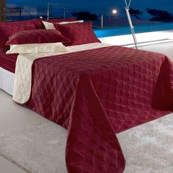 Colcha-Cobreleito-Casal-BBC-Textil-Essence-3-Pecas---Bordo