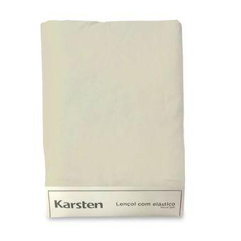 Lencol-Avulso-Solteiro-King-Karsten-180-Fios-Liss-Bege-100x200x35cm-
