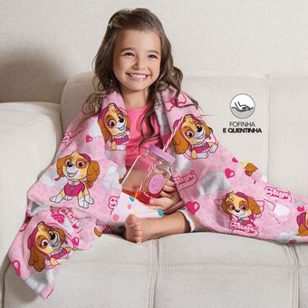 Manta-Infantil-para-Sofa-Fleece-Patrulha-Canina-Menina-Lepper