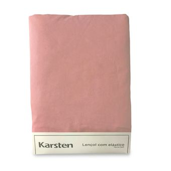 Lencol-Avulso-Solteiro-King-Karsten-180-Fios-Liss-Rosa-100x200x35cm