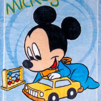 Cobertor-Bebe-Jolitex-Raschel-Mickey-Carrinho-