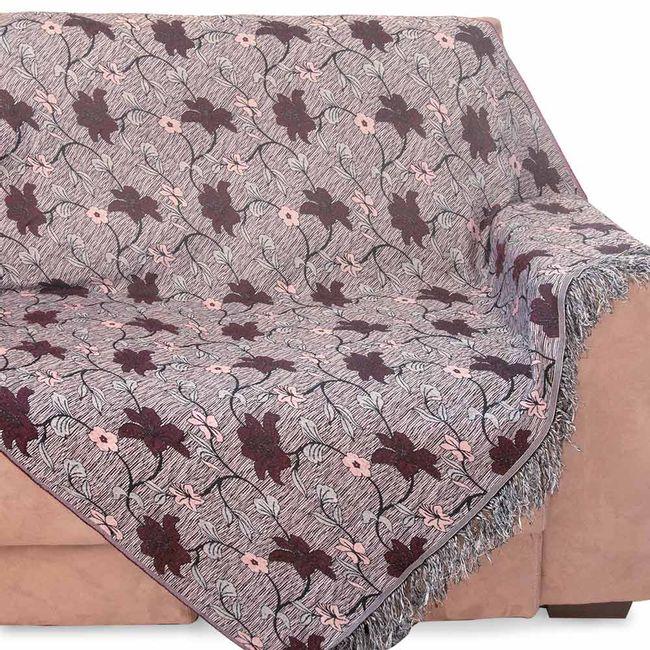 Manta-para-Sofa-3-Lugares-Izaltex-Imperial---Bordo-Floral