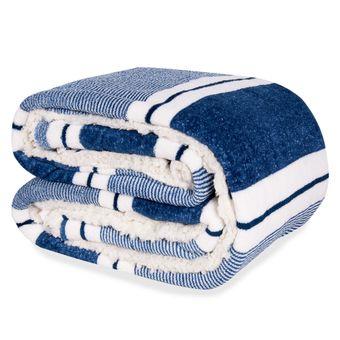 Cobertor-Casal-Dupla-Face-Hedrons-Plush-e-Sherpa-Azul-Jeans-180x235cm
