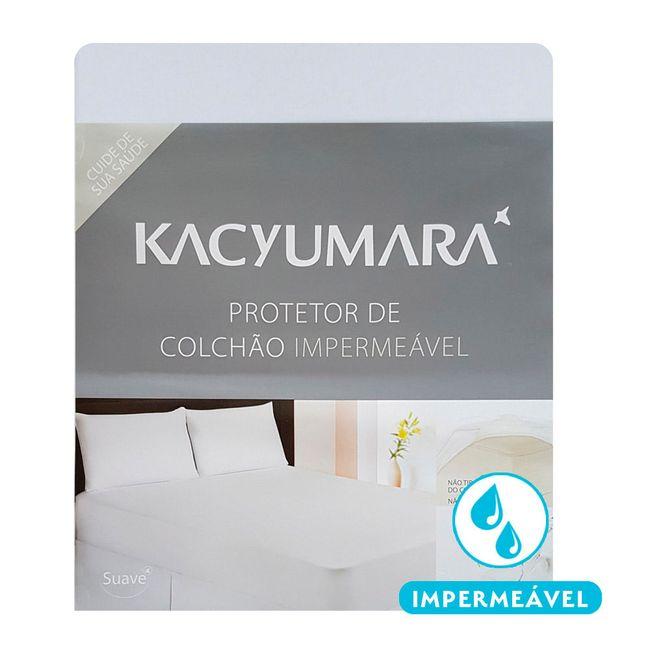 Protetor-de-Colchao-Impermeavel-Solteiro-King-Kacyumara-Algodao-Branco-96x203x40cm