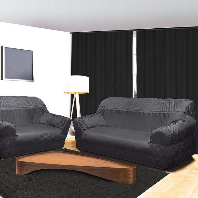 Capa-para-Sofa-3-e-2-Lugares-21-Elasticos-Grafite-Alteza-Light---Izaltex
