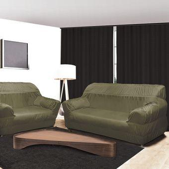 Capa-para-Sofa-3-e-2-Lugares-21-Elasticos-Verde-Alteza-Light---Izaltex