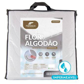 Protetor-de-Colchao-Impermeavel-Solteiro-Fibrasca-Flor-de-Algodao