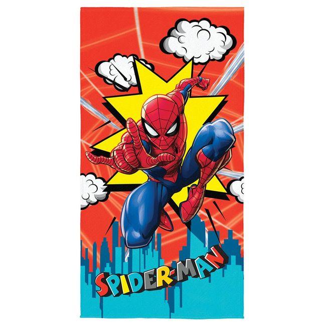 Toalha-de-Banho-Aveludada-Spider-Man-70x140cm-Transfer