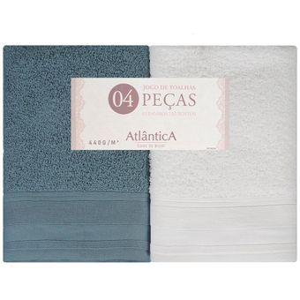 Jogo-de-Toalhas-Banhao-4-Pecas-Atlantica-Una-Estanho-Branco-80x150cm-440-g-m²