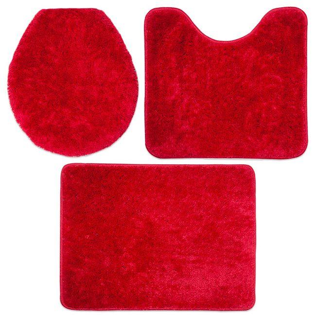Jogo-de-Tapetes-para-Banheiro-3-Pecas-Jolitex-Volpi-Vermelho