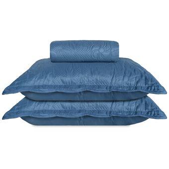 Colcha-King-Size-Bouti-Ultrasonic-3D-Jolitex-3-Pecas-Jeans