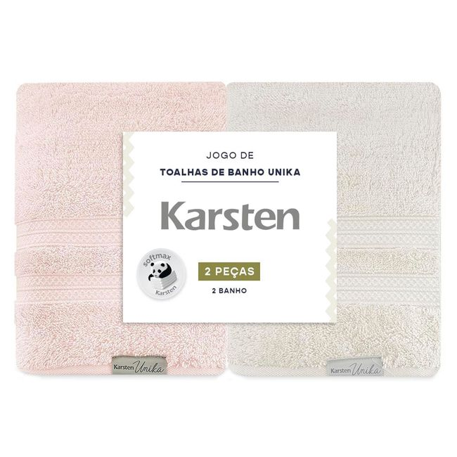 Kit-Toalha-de-Banho-2-Pecas-Karsten-Unika-Grao-Rose
