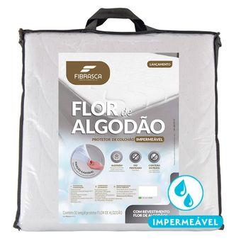 Protetor-de-Colchao-Impermeavel-Queen-Size-Fibrasca-Flor-de-Algodao