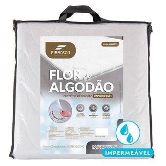 Protetor-de-Colchao-Impermeavel-King-Size-Fibrasca-Flor-de-Algodao