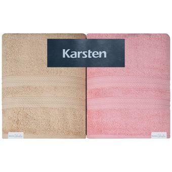 Jogo-de-Toalhas-Banhao-4-Pecas-Karsten-Unika-500-g-m²-Trigo-Pink