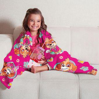 Manta-Infantil-para-Sofa-Fleece-Patrulha-Canina-Menina