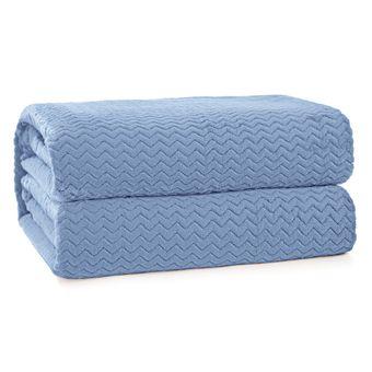 Cobertor-Solteiro-Hedrons-Plush-Tweed-Azul-Ceu-280-g-m²-160x230cm