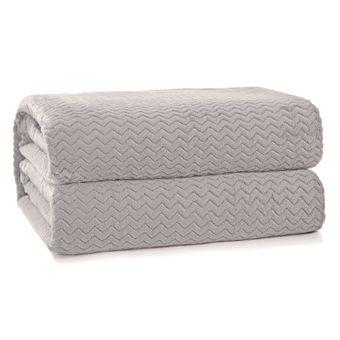 Cobertor-Queen-Size-Hedrons-Plush-Tweed-Cevada-280-g-m²-230x260cm