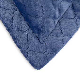 Porta-Travesseiro-em-Plush-Hedrons-Azul-Indigo-55x80cm