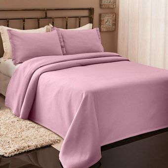 Colcha-Solteiro-Piquet-Rose-Becadecor
