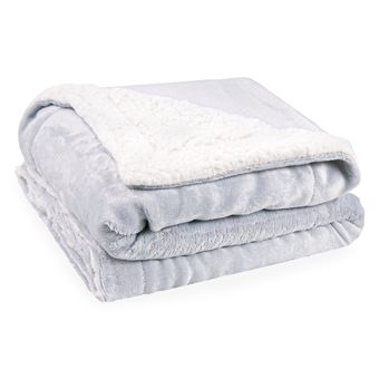 Cobertor-para-Bebe-Dupla-Face-com-Sherpa-Sultan-110-x-90cm-400-g-m²---Cinza-Claro