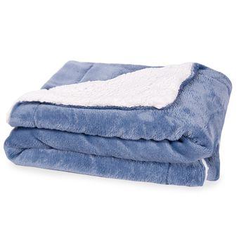 Cobertor-para-Bebe-Dupla-Face-com-Sherpa-Sultan-110-x-90cm-400-g-m²---Indigo