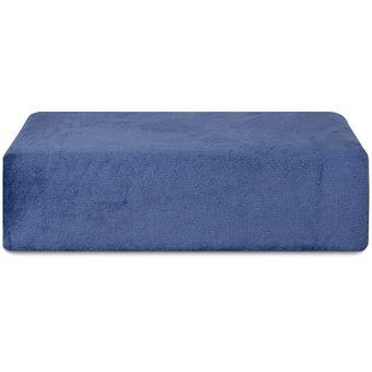Lencol-de-Plush-Casal-Hedrons-Azul-Indigo