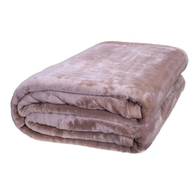 Cobertor-Casal-Europa-Toque-de-Luxo-180-x-240cm---Marrom-Claro