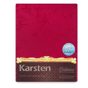 Toalha-de-Mesa-Retangular-Karsten-Easy-Wash-6-Lugares-Verissimo-Vermelha-160x220cm