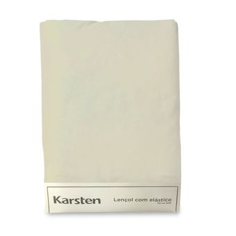 Lencol-Avulso-Solteiro-King-Karsten-180-Fios-Liss-Bege-100x200x35cm