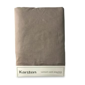 Lencol-Avulso-Casal-Karsten-180-Fios-Liss-Taupe-138x188x35cm