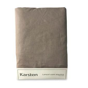 Lencol-Avulso-Solteiro-King-Karsten-180-Fios-Liss-Taupe-100x200x35cm