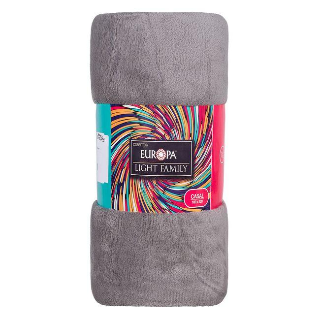Manta-Casal-Europa-Microfibra-180x220cm-190-g-m²-Cinza