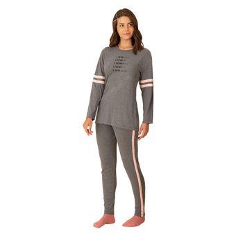 Pijama-Feminino-Manga-Longa-com-Legging-Pzama-Meia-Malha-Mescla-Cinza--P-